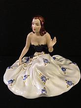 A Royal Dux porcelain figure of a Seated Lady