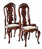 Set of four Queen Anne style Side Chairs