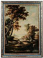 Italianate Landscape, signed