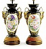 Pair Paris porcelain vases mounted as lamps
