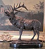Large Bronze Sculpture Standing Elk