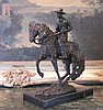Stunning Bronze Sculpture Cowboy on Horseback