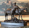 Equestrian Cowgirl Bronze Sculpture