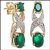 Emerald, Diamond Earrings