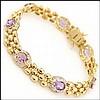 12.08 CT Amethyst & Diamond Designer Bracelet