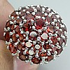 Huge 62.08 ct. Round Faucet Garnet Ring