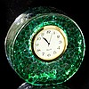 Emerald Green Art Glass Desk Clock