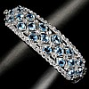 Beautiful SWISS BLUE TOPAZ-WHITE TOPAZ BRACELET