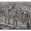 ORIGINAL Antique PRINT scene -FORTRESS OF THE EMI