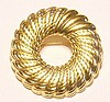 Vintage Monet Pin, Brooch Gold-tone Wreath.
