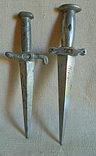 Trench Art - 2 Letter Openers Dagger Shaped