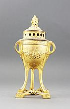 French DEPOSE GILT BRONZE ORMOLU  INCENSE BURNER