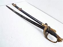 CIVIL WAR,  AMES CHICOPEE MASS MARKED STAFF SWORD