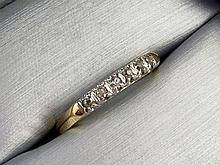 14k Yellow Gold Victorian Diamond Wedding Band