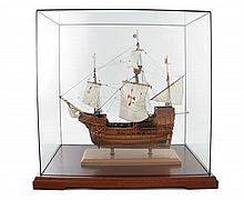 Spanish Galleon Under Sail Model Ship