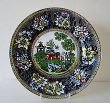 Hand Painted Stafforfshire Hadderbridge Platter