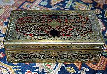 French Boulle Style Brass Inlaid Box Circa 1880