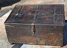 One of Kind, Period Iron Bound Oak Box