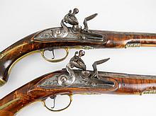 A pair of 18th century Flintlock pistols circa