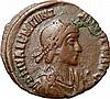 Ancient Roman coin Valentinian I Roman Emperor