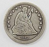 1862 Liberty Seated Quarter Dollar
