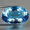ENORMOUS 49.20 CTS OVAL SWISS BLUE TOPAZ