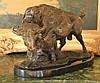 Massive Bronze Sculpture Buffalo - Bison
