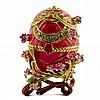 Fleur Rose Faberge Inspired Egg