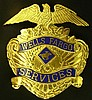Wells Fargo Service Hat Badge, Vintage