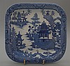 Antique Pearlware Spode Square Dish