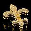 Fleur-De-Lis Jeweled Jewelry Trinket Box