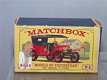 Matchbox Model of Yesteryear 1911 Model T Ford Box ONLY