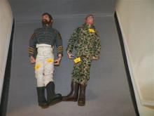 Two (2) GI Joe Dolls: Civil War Uniform, Camo Uniform