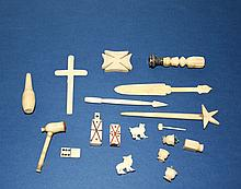 Antique Miniature Bone Items