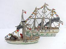 Two German Ship Models