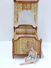 Artist Canopy Bed and Doll
