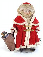 German Bisque Santa Doll