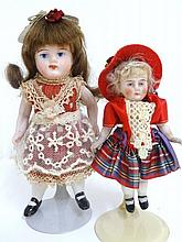 Bisque German Doll with Painted Face