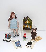 Girl Doll and Raheb Books