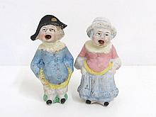 Pair German Bisque Figures