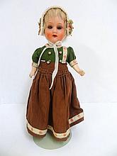 Bisque German Doll with Swivel Head