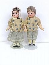 Two Bisque Dolls