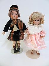 Two German Dolls, Boy and Girl