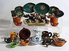 Large Grouping Mexican Pottery