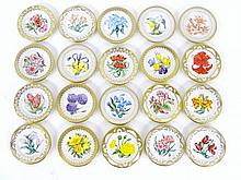 Miniature Royal Dutch Floral Plates