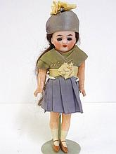 German Bisque Girl Doll