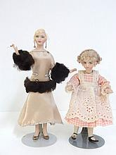 Two IGMA Bisque Dolls