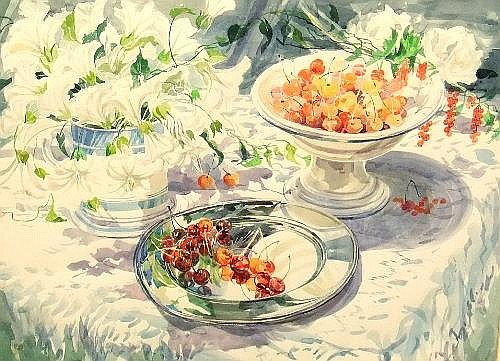Elizabeth Jane Lloyd, British 1928-1995 -'Cherries
