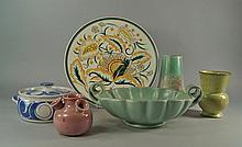 A Poole Pottery dish by J Rolfe pattern ZB