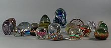 A collection of modern paperweights
